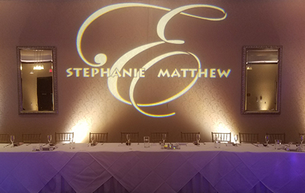 Name In Lights Wedding Monograms And Gobos Black Tie
