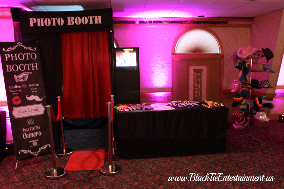 Guy's Party Center with Black Tie Entertainment Photo Booth