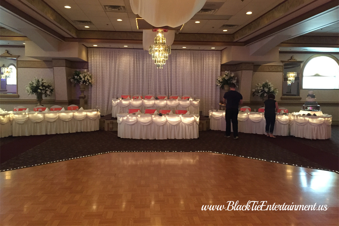 Guy's Party Center with Black Tie Entertainment event lighting