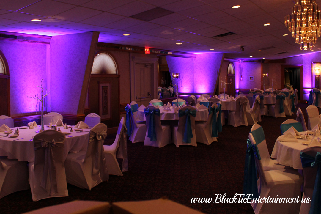 Guy's Party Center with Black Tie Entertainment up-lighting