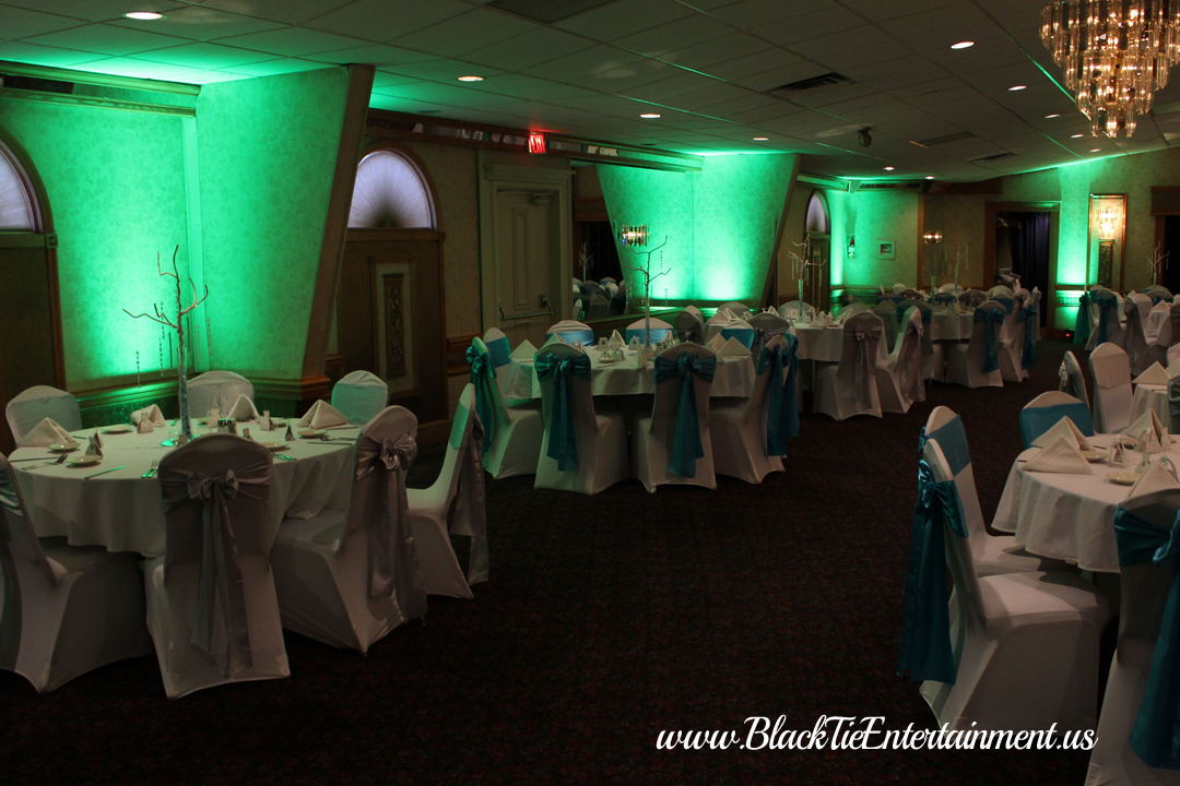 Guy's Party Center with Black Tie Entertainment up-lights